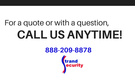 Contact Strand Security today