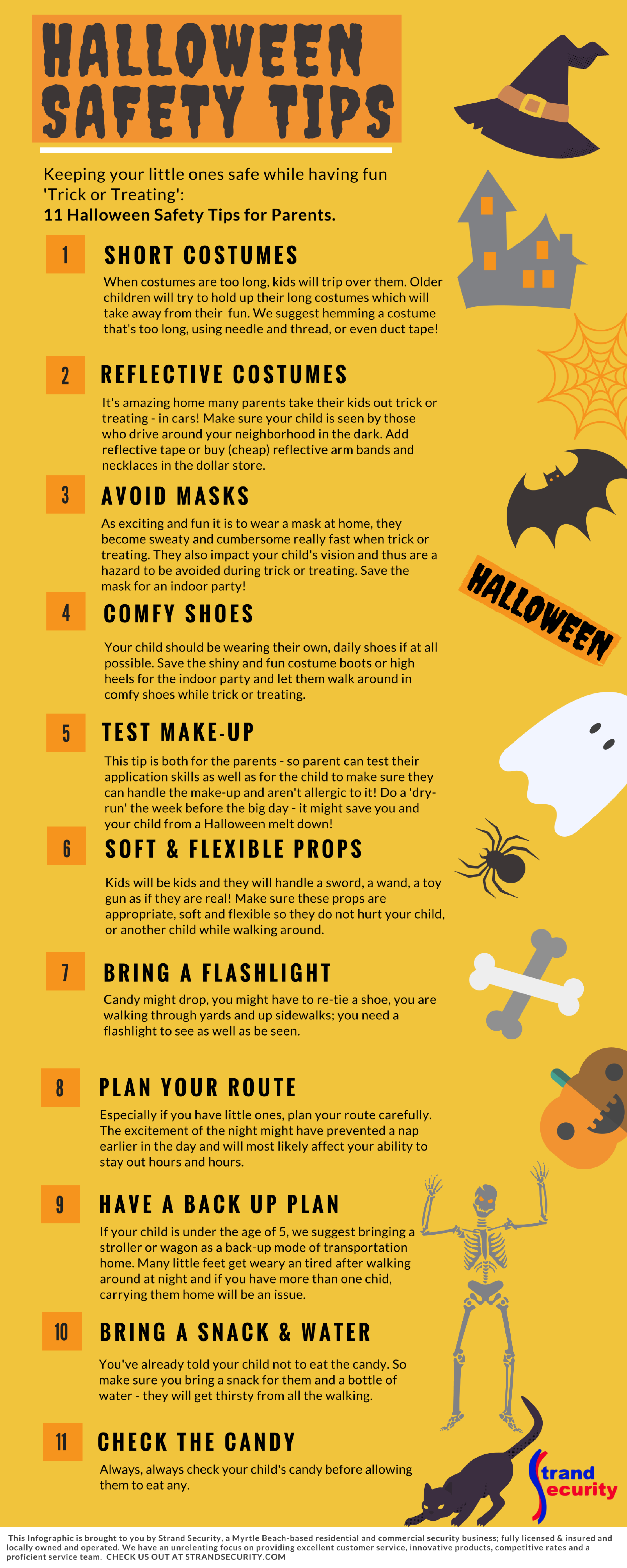 Halloween Safety Tips for Parents - Take your child Trick or Treating Safely - Infographic