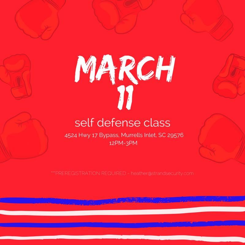 Myrtle Beach Self Defense Class MArch 2017