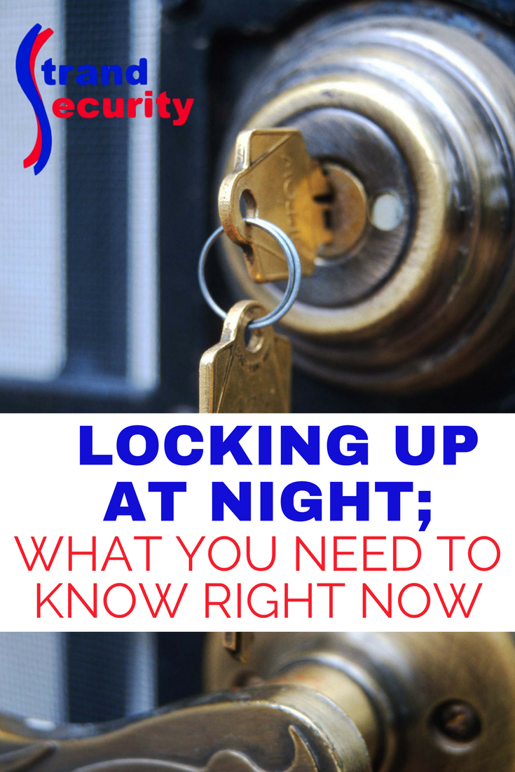 Evening routine of locking up your home at night. Safety and security tip! Myrtle Beach