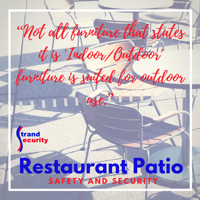 Restaurant Patio Security