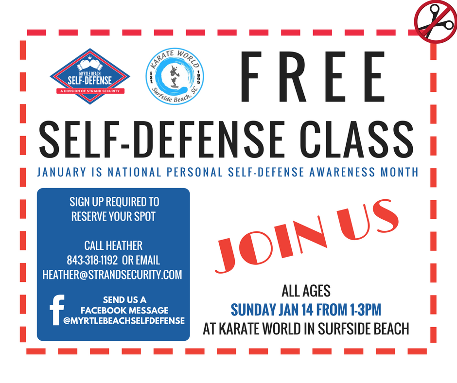 FREE self defense class Myrtle Beach