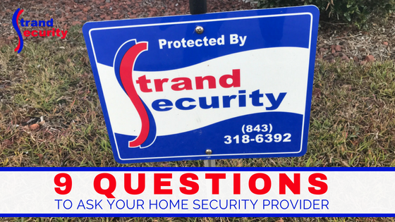 questions to ask your home security provider