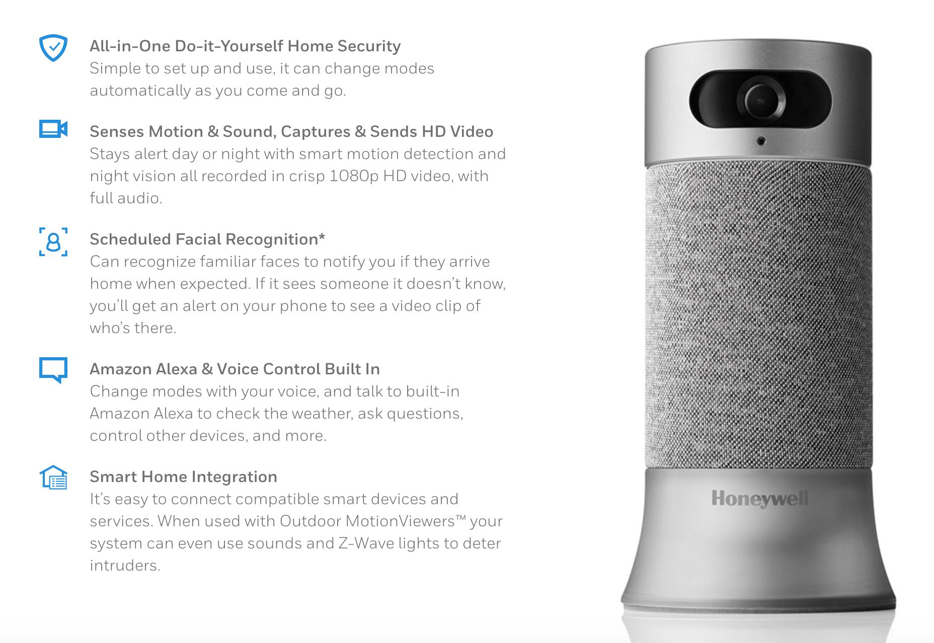 honeywell smart home security
